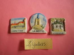 Serie Complète De 3 Fèves Perso En Porcelaine AVOSCAN 1996 ( Feve Figurine Miniature ) Rare - Regions