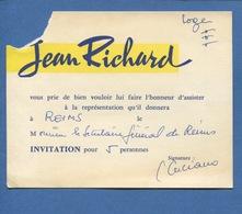 Cirque  Jean Richard Invitation Pour Cinq Personnes Reims - Altri