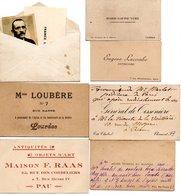 Petit Lot D'une  Photo Avec  6 Cartes De Remerciment Et Visites  H - Pyrénées Et B .P - Other