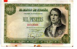 Billete De  1000 Pesetas Año 1949 - [ 3] 1936-1975 : Régence De Franco