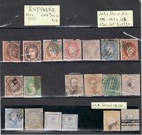 ESPAGNE-TIMBRES ANCIENS-1868-1873- - Sammlungen