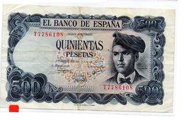 Billete De  500 Pesetas Año 1971 - [ 3] 1936-1975 : Regime Di Franco