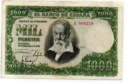 Billete De  1000 Pesetas Año 1951 - 1000 Pesetas