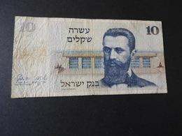 Banknote ISRAEL 10 Sheqalim 1978  Gebr. - Israel