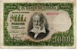 Billete De  1000 Pesetas Año 1951 - [ 3] 1936-1975 : Régence De Franco