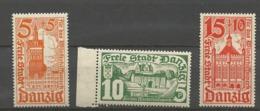 Danzig  19365 Mi.Nr.:256-58 Winter Aid Buildings Set Mint Hinged X - Danzig