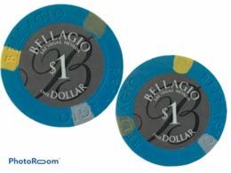 JETON / TOKEN LAS VEGAS 1$ CASINO BELLAGIO - Casino
