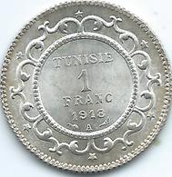Tunisia - AH1336 (1918) A - Muhammad V - 1 Franc - KM238 - AUNC - Tunisia