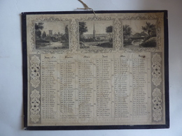 ALMANACH  Calendrier  1851  2 Semestriel  Recto Verseau Tableaux Allégoriex Paysagex  Arabesque -   CLAS 2020 MAI - Calendari