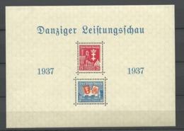 Danzig  1937 Mi.Nr.: Bloc 3 Danzig Show Mint Never Hinged Xx - Danzig