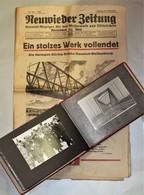 Fotoalbum 1936 Neuwieder Brückenbau Hermann-Göring-Brücke Mit Original Zeitung - Guerra 1939-45