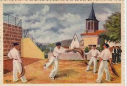 ILLUSTRATEURS HOMUALK  Basse- Navarre- Joueur De Pelote à La Chistera  ..... - Homualk