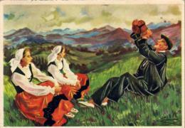 ILLUSTRATEURS HOMUALK  Basque Buvant à La Gourde  ..... - Homualk