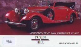 Télécarte JAPON *  MERCEDES BENZ  (466)  Phonecard JAPAN * VOITURE * Auto CAR * TELEFONKARTE - Voitures
