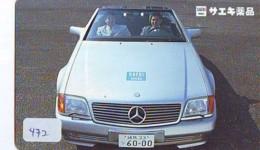 Télécarte JAPON *  MERCEDES BENZ  (472)  Phonecard JAPAN * VOITURE * Auto CAR * TELEFONKARTE - Voitures