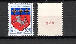 FRANCE  N° 1510 + 1510b    NEUFS SANS CHARNIERE  COTE 18.20€    ARMOIRIE  NUMERO ROUGE - Francia