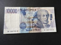 Banknote Der Bank Von Italien 10.000 Lire 1984  Gebr. - Italien