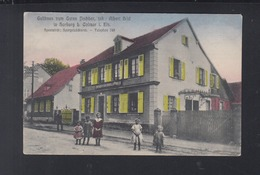 Frankreich France AK Horburg Horbourg Elsass Gasthaus 1915 - Colmar