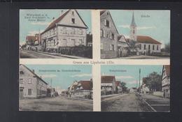 Frankreich France AK Lipsheim 4 Ansichten 1915 - Frankreich