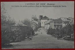 Postcard Of The   Castelo De Vide /   Um Trecho Do Jardim Publico E Rua De Bartolomeu Alvares Da Santa  ( Lote Nº 1480 ) - Portalegre