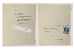 L.A.S 1921 Ernest LAVISSE Historien Né Au Nouvion-en-Thiérache - Lettre Autographe - Chaumeix - Autografi