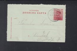 Dt. Reich Feldpost Auf Serbien Kartenbrief 1916 - Deutschland