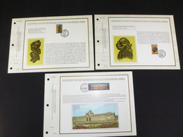 """BELG.1997 2727/2729 : """" Kon.museum Midden Afrika """" Filatelistische Kaarten Zijde NL.(CEF), Gelimiteerde Oplage - 1991-00"""