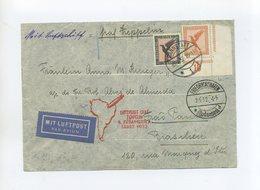 1932 Dt. Reich Zeppelin LZ 127 Brief Der 4.Südamerikafahrt Mit Bogenecke Mi 381 Und Mi 382  SI 171Aa - Covers & Documents