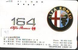 Télécarte JAPON * ALFA ROMEO  (41) Phonecard JAPAN * VOITURE * Auto CAR * TELEFONKARTE - Voitures