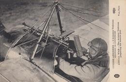 War 1914-18 ; The Aviator Vedrines Preparing His Maxium Gun - War 1914-18