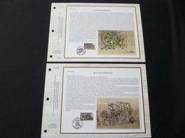"""BELG.1997 2693 & 2694 : """" LEGENDEN """" Filatelistische Kaarten Zijde NL.(CEF), Gelimiteerde Oplage - FDC"""