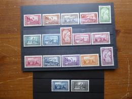 MONACO Paysages De La Principauté Série Complète N° 119 à 134 Cote 640 € Neufs Avec Une Charnière MLH - Monaco