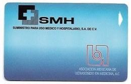 SMH Mexico Advert, Used Magnetic Hotel Room Key Card # Advert-104 - Cartas De Hotels