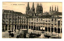 BURGOS - PLAZA MAYOR - FOTOTIPIA HAUSER Y MENET - POSTAL - Burgos