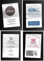 Tovagliolino Da Caffè - Lotto 4 Pezzi  N. 02 - Serviettes Publicitaires