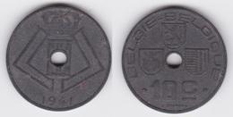 LOT 55  LEOPOLD III  10 CENTIMES ZINC TYPE JESPERS 1941 Flamande/Française - 02. 10 Centimes