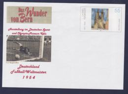 Germany Postal Stationary Lyonel Feininger W/print 1954 Deutschland Weltmeister 1954 - Mint (G111-24) - 1954 – Schweiz