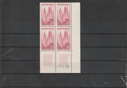FRANCE Cathédrale De Rouen Bloc De 4  N°1129 ** - 1950-1959