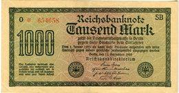 Allemagne Germany 1000 Mark 15 September 1922 P76b - [ 3] 1918-1933 : Weimar Republic