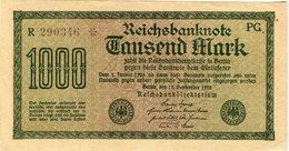 Allemagne Germany 1000 Mark 15 September 1922 P76d - [ 3] 1918-1933 : Weimar Republic