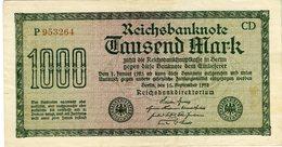 Allemagne Germany 1000 Mark 15 September 1922 P76c - [ 3] 1918-1933 : Weimar Republic