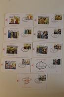 FDC - 9 B.D. Différentes - Philatélie De La Jeunesse -  Timbres N° 2841/49- Tampon Brussel /Bruxelles Ovale Bulle Tintin - FDC