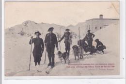 HAUTES ALPES : Transport D'un Malade Sur Traineau Improvisé Avec Attelage De Chiens Ecole De Ski Du 158e - Etat - France