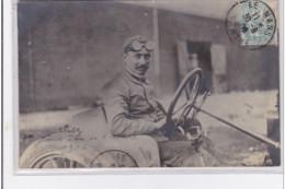 CIRCUITE DE LA SARTHE : Carte Photo Du Pilote De Course Automobile CLISZ En 1906 (oblitérée LE MANS) - Très Bon état - Le Mans