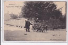 BOURGUEIL : L'ancien Courrier De Restigné (attelage De Chiens - Voiture à Chien) - Bon état (un Coin Plié) - Francia