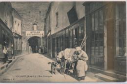 POUANCE : Rue Principale, Un Attelage à Chien - Très Bon état - Autres Communes