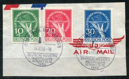 """F0218 - BERLIN - Mi.68-70 (Währungsgeschädigte), Briefstück Mit Sonderstempel """"BERLIN-CHARLOTTENBURG 1950"""" - Gebruikt"""