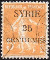 Syrie Obl. N° 106 - Semeuse Surchargée 25 Centièmes Sur 5c Orange - Syrie (1919-1945)