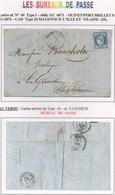 LES BUREAUX DE PASSE PORT BRILLET INDICE 14 - 1871-1875 Ceres