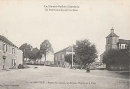 CPA  70 SAINT-SAUVEUR ECOLES EGLISE RTE DE LUXEUIL - France